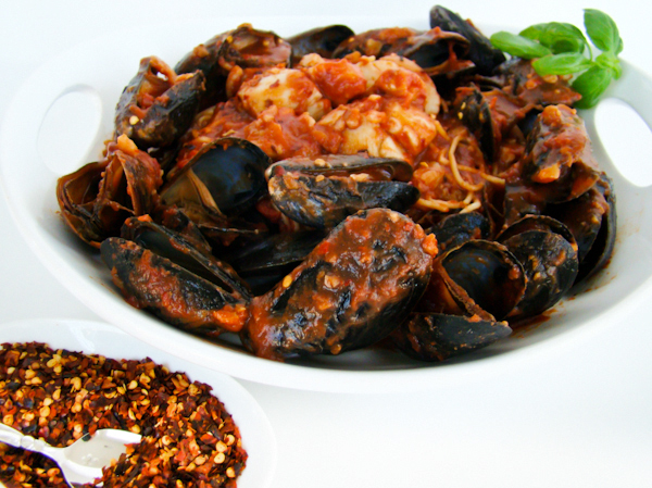 pasta & recipes: seafood fra diavolo