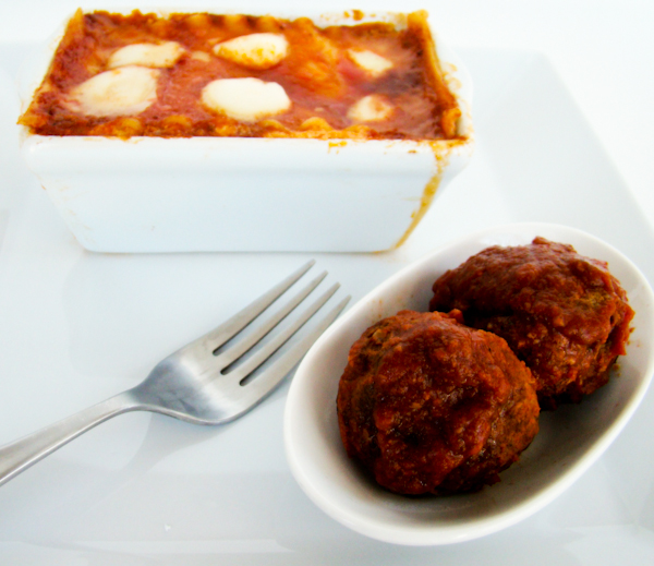 Homemade Meatballs & Lasagna