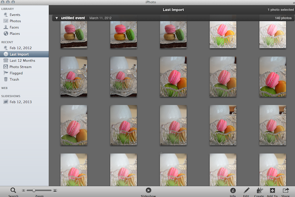 Take lots of pictures for editing Lightroom 3