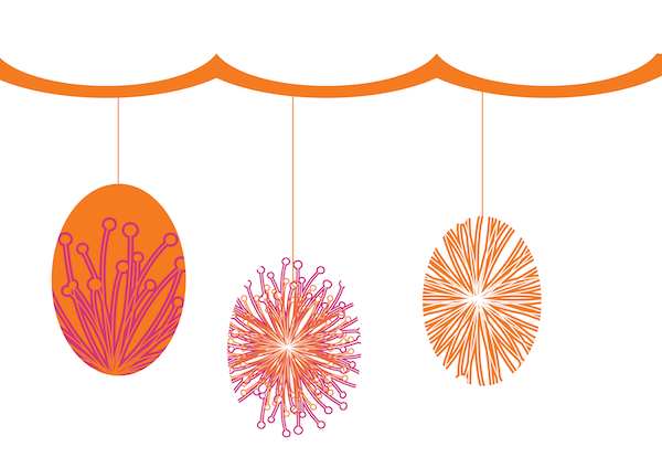 Free Banner Tangerine and Pink Printable's