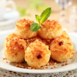 home remedies & recipes- coconut lemon macaroon & how to clean your wooden cutting board