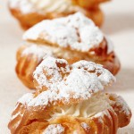 easy-desserts-recipes-cookie-topped-cream-puffs-profiteroles-choux-cream-puffs-
